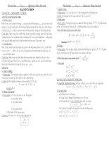 Mẹo giải toán đại số tổ hợp