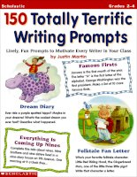 150 totally terrific writing prompts