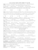 Bài tập vậy lý hạt nhân luyện thi Đại Học có lời giải
