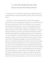 TỪ GIẢNG văn QUA PHÂN TÍCH tác PHẨM đến dạy học đọc HIỂU văn bản văn học
