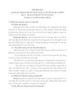 CHUYÊN ĐỀ 4 ĐĂNG KÝ, THỐNG KÊ ĐẤT ĐAI VÀ QUẢN LÝ HỒ SƠ ĐỊA CHÍNH BÀI 1 ĐĂNG KÝ QUYỀN SỬ DỤNG ĐẤT VÀ QUẢN LÝ HỒ SƠ ĐỊA CHÍNH