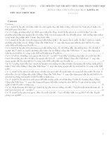 CÂU HỎI ÔN TẬP THI KẾT THÚC HỌC PHẦN TRIẾT HỌC DÙNG CHO CÁC LỚP CAO HỌC CÓ ĐÁP ÁN