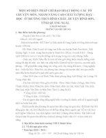 MỘT số BIỆN PHÁP CHỈ đạo HOẠT ĐỘNG các tổ CHUYÊN môn, NHẰM NÂNG CAO CHẤT LƯỢNG dạy – học  ở TRƯỜNG THCS BÌNH CHÂU, HUYỆN BÌNH sơn, TỈNH QUẢNG NGÃI