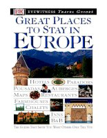 great places to stay in europe a