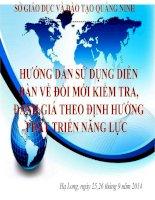 Tài liêu hướng dẫn sử dụng diễn đàn đổi mới kiểm tra đánh giá theo định hướng phát triển năng lực học sinh Sở GDĐT Quảng Ninh