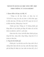 TẬP HUẤN ĐÁNH GIÁ HỌC SINH TIỂU HỌC THEO  THÔNG TƯ 302014BGDĐT