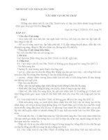Bài tập thực hành câu hỏi vận dụng thấp môn Ngữ văn THCS (Tập huấn đổi mới KTĐG theo định hướng phát triển năng lực học sinh)