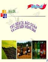 bài giảng công nghệ 7 bài 20 thu hoạch bảo quản và chế biến nông sản