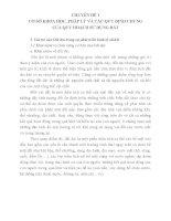 CHUYÊN ĐỀ 1 CƠ SỞ KHOA HỌC, PHÁP LÝ VÀ CÁC QUY ĐỊNH CHUNG CỦA QUY HOẠCH SỬ DỤNG ĐẤT