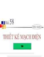 bài giảng công nghệ 8 bài 58 thiết kế mạch điện