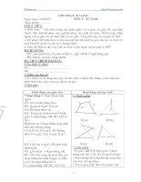 giáo án hình học lớp 8 đầy đủ chi tiết