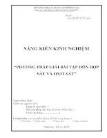 skkn phương pháp giải bài tập hỗn hợp sắt và oxit sắt