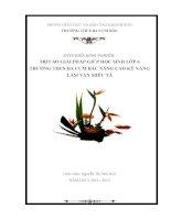 MỘT SỐ GIẢI PHÁP GIÚP HỌC SINH LỚP 6 TRƯỜNG THCS BA CỤM BẮC NÂNG CAO KỸ NĂNG LÀM VĂN MIÊU TẢ