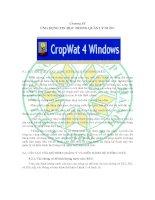 Chương 9 ứng dụng tin học trong quản lí nước (bộ môn quản lý nguồn nước)