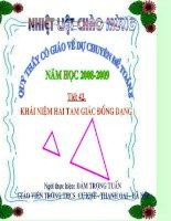 Bài giảng chuyên đề Toán 8 Khái niệm 2 tam giác đồng dạng
