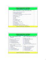 Chương 1 nước cấp và nước thảy (bộ môn quản lý tài nguyên nước)