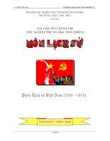 Tài liệu lịch sử 12 phần lịch sử Việt Nam 1919 đến 1975 (ôn TNTHPT và TSĐH)