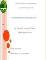 Báo cáo dự án xây dựng khu du lịch sinh thái hồ đá tại đại học quốc gia TP HCM