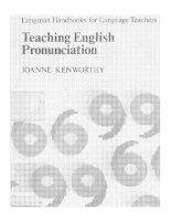teaching english pronunciation  longman handbooks for language teachers