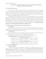 ứng dụng đạo hàm trong các bài toán giải phương trình, bất phương trình