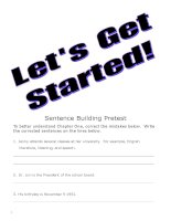 sentence writing let''''s get started