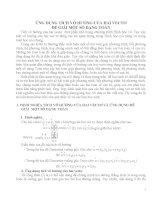 ứng dụng tích vô hướng của hai vectơ để giải một số dạng toán