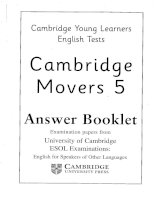 movers 5 answer booklet