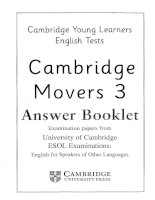 movers 3 answer booklet