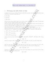 Tài liệu Bài tập hình học 10 chương 1