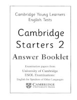 starters 2 answer booklet
