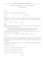tuyển tập đề thi cao học môn xác suất thông kê