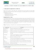 Chương 1 Cơ sở lý thuyết và các quá trình xử lý nước thảy (Bộ môn Xử lý nước thải )