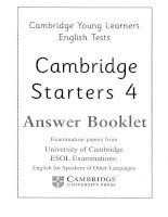 starters 4 answer booklet