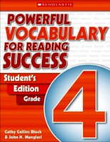 powerful vocabulary for reading success student s edition grade 4 204p