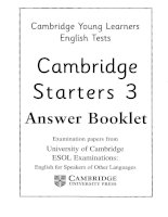 starters 3 answer booklet