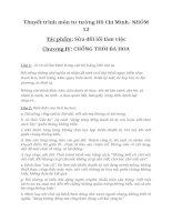 thuyết trình môn tư tưởng hồ chí minh tác phẩm sửa đổi lối làm việc chương thói ba hoa
