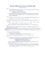 tổng hợp đề thi tự luận xác suất thống kê
