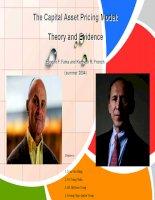 Báo cáo đề tài Mô hình định giá tài sản vốn The Capital Asset Pricing Model:Theory and Evidence