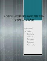 Tiểu luận Đầu tư tài chính A CAPITAL ASSET PRICING MODEL WITH TIMEVARYING COVARIANCES