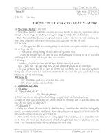 Giáo án Dạy học tích hợp liên môn Thông tin về ngày Trái đất năm 2000 Ngữ văn 8