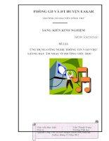 ứng dụng công nghệ thông tin trong giảng dạy âm nhạc ở trường tiểu học