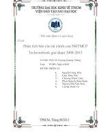 Tiểu luận Quản trị ngân hàng Phân tích báo cáo tài chính của NHTMCP Techcombank giai đoạn 2008 2012