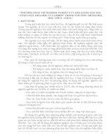 SKKN: PHƯƠNG PHÁP THÍ NGHIỆM NGHIÊN CỨU KHI GIẢNG DẠY BÀI TÍNH CHẤT HOÁ HỌC CỦA HIĐRÔ TRONG CHƯƠNG TRÌNH HOÁ HỌC LỚP 8  THCS