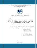 TIỂU LUẬN QUẢN TRỊ NGÂN HÀNG PHÂN TÍCH BÁO CÁO TÀI CHÍNH SACOMBANK 2008 - 2012