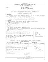 Giáo án hình học theo chuẩn kiến thức lớp 9