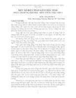 SÁNG KIẾN KINH NGHIỆM MỘT SỐ BIỆN PHÁP GIÚP HỌC SINH PHÁT ÂM ĐÚNG KHI HỌC  MÔN TIẾNG VIỆT LỚP 1