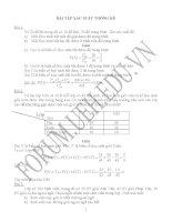 bài tập môn lý thuyết xác suất và thống kê toán có hướng dẫn giải