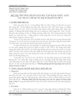 SKKN PHƯƠNG PHÁP GIẢI BÀI TẬP DẠNG OXIT AXIT TÁC DỤNG VỚI DUNG DỊCH BAZƠ Ở LỚP 9