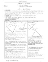 Giáo án hình học lớp 8 chuẩn kiến thức