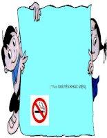 Bài giảng ôn dịch thuốc lá Ngữ văn 8 (Thao giảng Giáo viên giỏi)